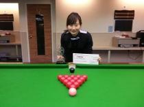 2013 香港女子英式桌球精英選拔賽季軍  HK Women New Talent Snooker Championship 2013 - 2nd Runner Up