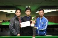2014 香港 21 歲以下青少年英式桌球公開賽 第三站冠軍 Champion : 梁民鎧 HK U21 Snooker Open Championship 2014 E3