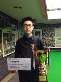 2015香港21歲以下青少年英式桌球公開賽 (第一站) 8 Feb, 2015  冠軍 Champion: 譚潤峰 Oliver Tam HK U21 Snooker Championship 2015 (E1)