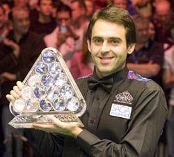 2009 The Masters Champion: Ronnie O'Sullivan 10:8 Mark Selby