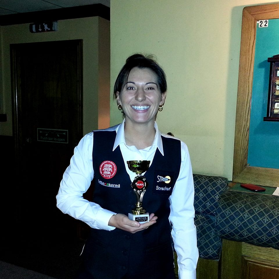 Southern Classic finalist 2014 and shared high break (66 with Hannah Jones) - Maria Catalano
