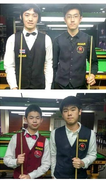 SF1: 宋沙瓦 (泰國 Thailand) vs 譚潤峰 Oliver Tam (香港 Hong Kong), SF2: 袁思俊 (中國 China) vs 陳銘東 Chan Ming Dong (香港 Hong Kong)