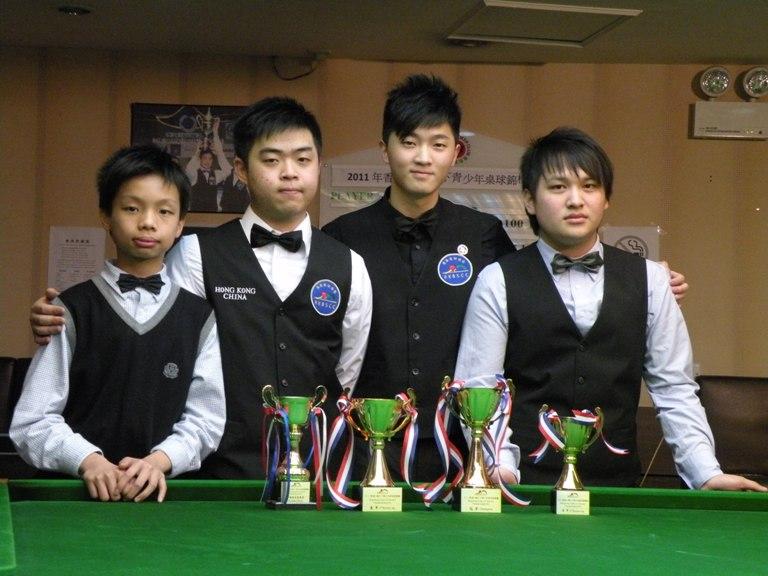 殿軍 3rd Runner Up Wan Sin Man, 亞軍 1st Runner up Stephen Wong, 冠軍 Champion : 李士民 Simon Lee, 季軍 2nd Runner Up Mok Siu Fung