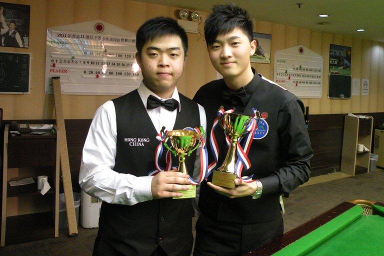 亞軍 1st Runner up : 黃潤誠 Stephen Wong and 冠軍 Champion : 李士民 Simon Lee