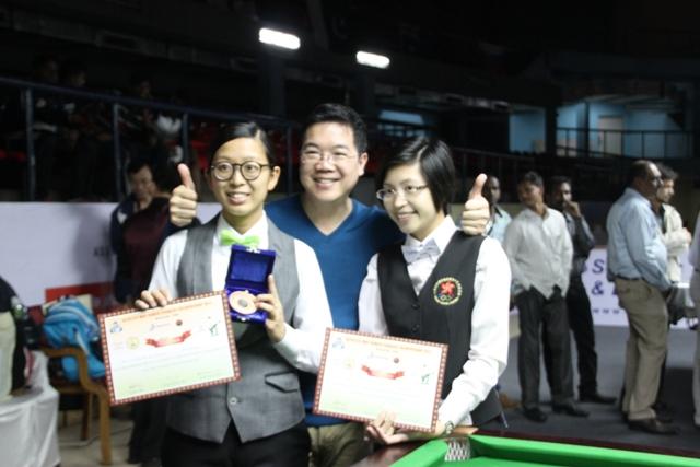 Alan Wong, Ng On Yee - 3rd Place and Wan Ka Kei - Quarter Finalist (HKG)