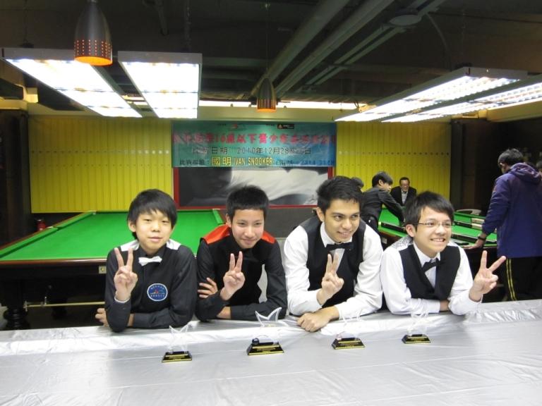 Leong Man Hoi(HKG), Champ: Ratchayothin Yotharuck(THA), Sheldon R.Senagang(MAL) & Cheung Shi Lung(HKG)