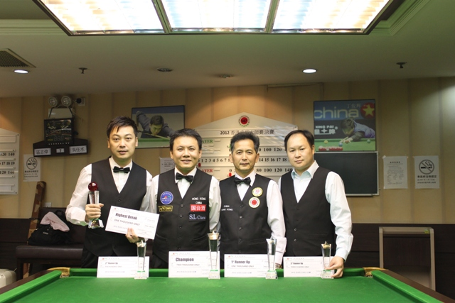 2012 HK Master Snooker Cup Finalists